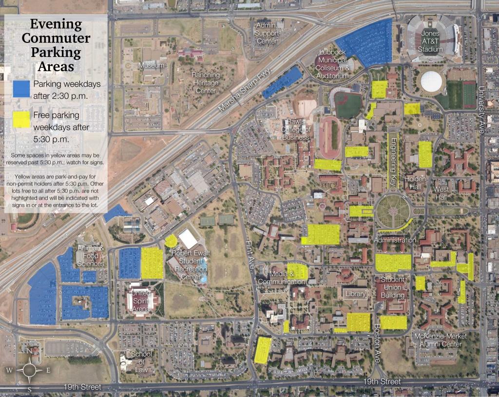 Campus Maps   Transportation & Parking Services   Ttu - Texas Tech Football Parking Map 2017