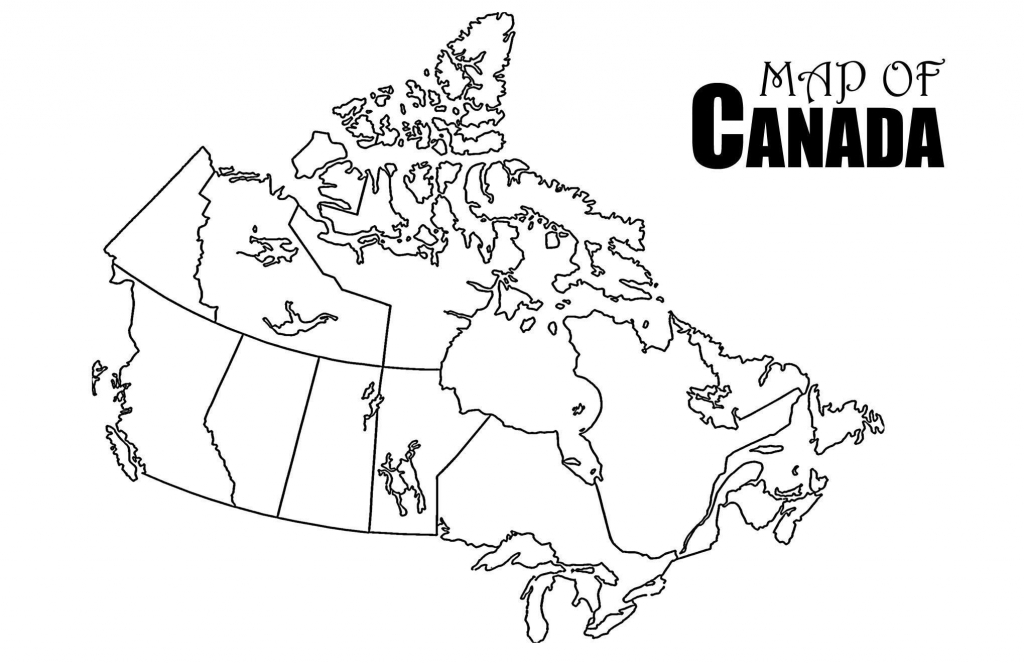 Canada Map Drawing At Paintingvalley | Explore Collection Of - Printable Blank Map Of Canada
