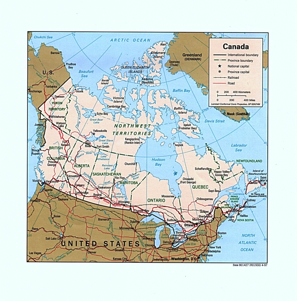 Canada Maps - Perry-Castañeda Map Collection - Ut Library Online - Printable Map Of Canada Pdf