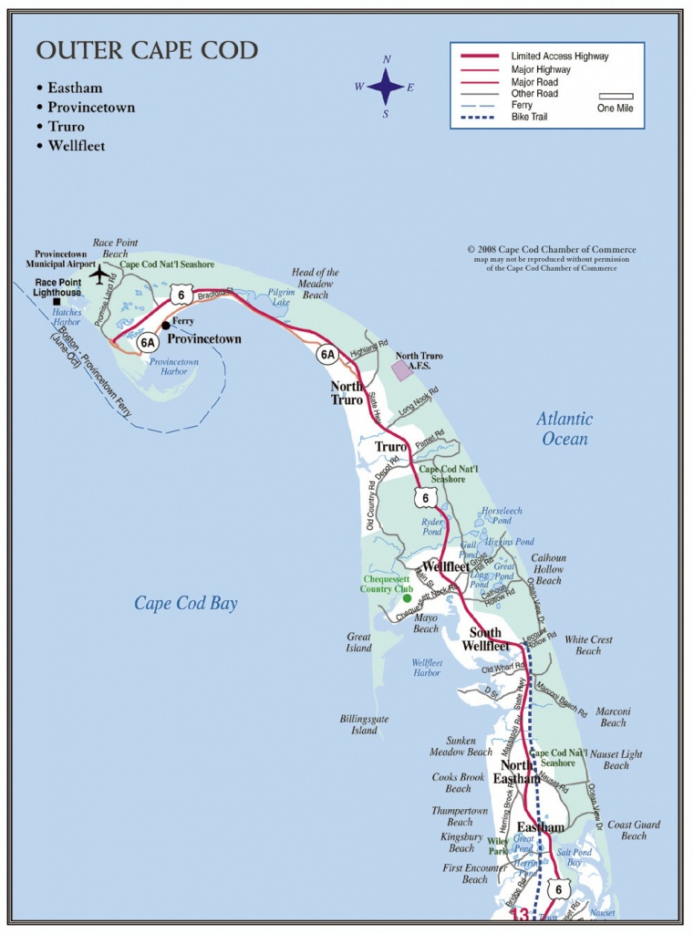 Cape Cod Maps | Cape Cod Chamber Of Commerce - Printable Map Of Cape Cod