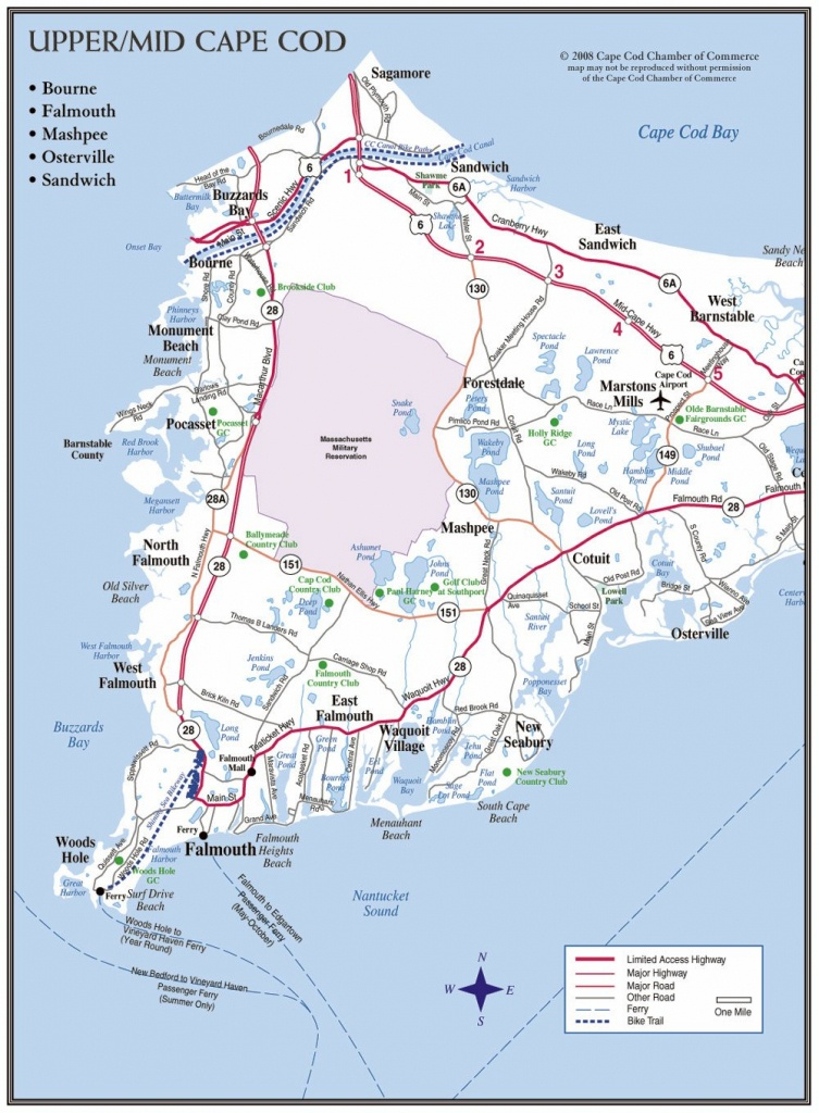 Cape Cod Maps | Cape Cod Chamber Of Commerce - Printable Map Of Cape Cod Ma