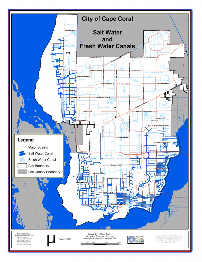 Cape Coral Florida City Map - Cape Coral Florida • Mappery - Map Of Florida Including Cape Coral
