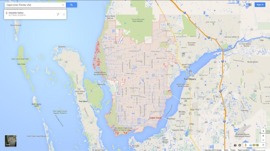 Cape Coral Florida Map - Google Maps Cape Coral Florida