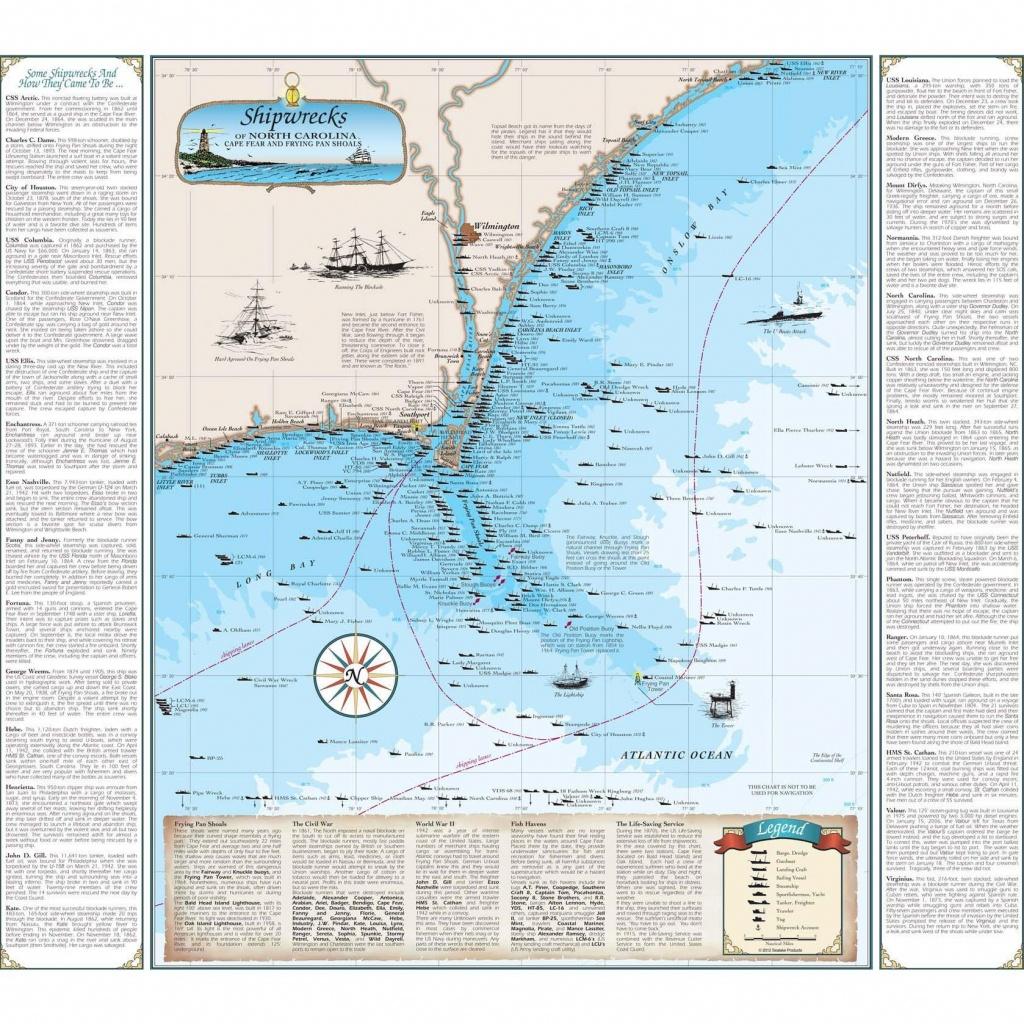 Cape Fear Shipwreck Map - California Shipwreck Map