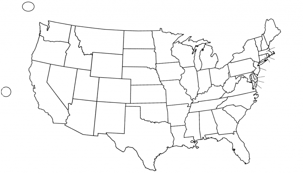 Capitals Awesome United States Blank Map - Berkshireregion - 50 States Map Blank Printable