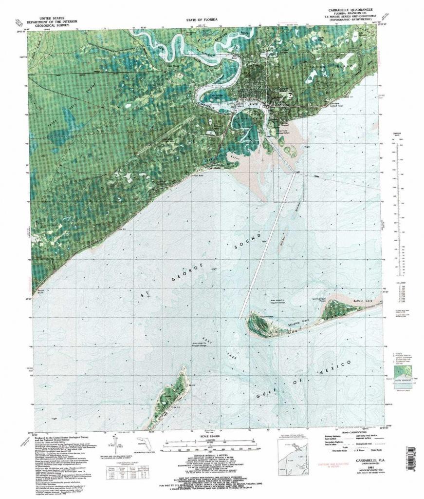 Carrabelle Topographic Map, Fl - Usgs Topo Quad 29084G6 - Carrabelle Island Florida Map