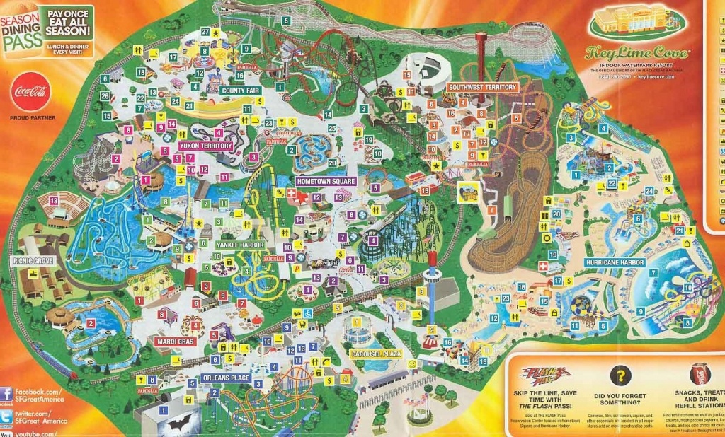 Category America 35 Six Flags Great Park Map 4 - World Wide Maps - Six Flags Great America Printable Park Map