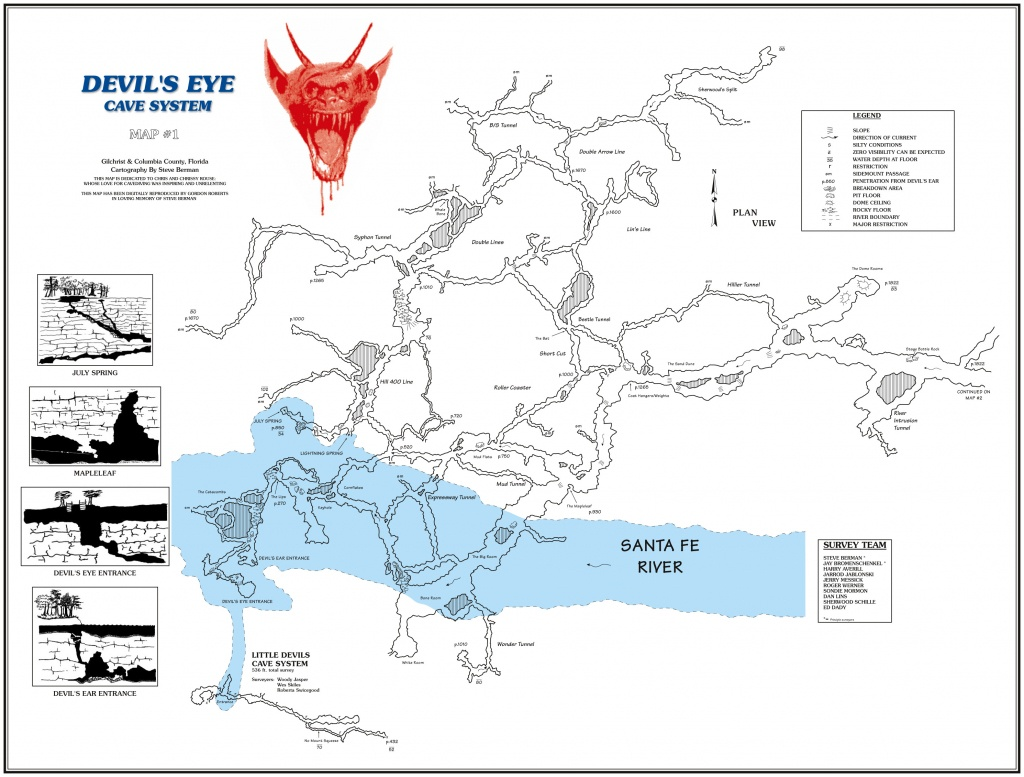 Caveatlas » Cave Diving » United States » Ginnie Springs - Ginnie Springs Florida Map