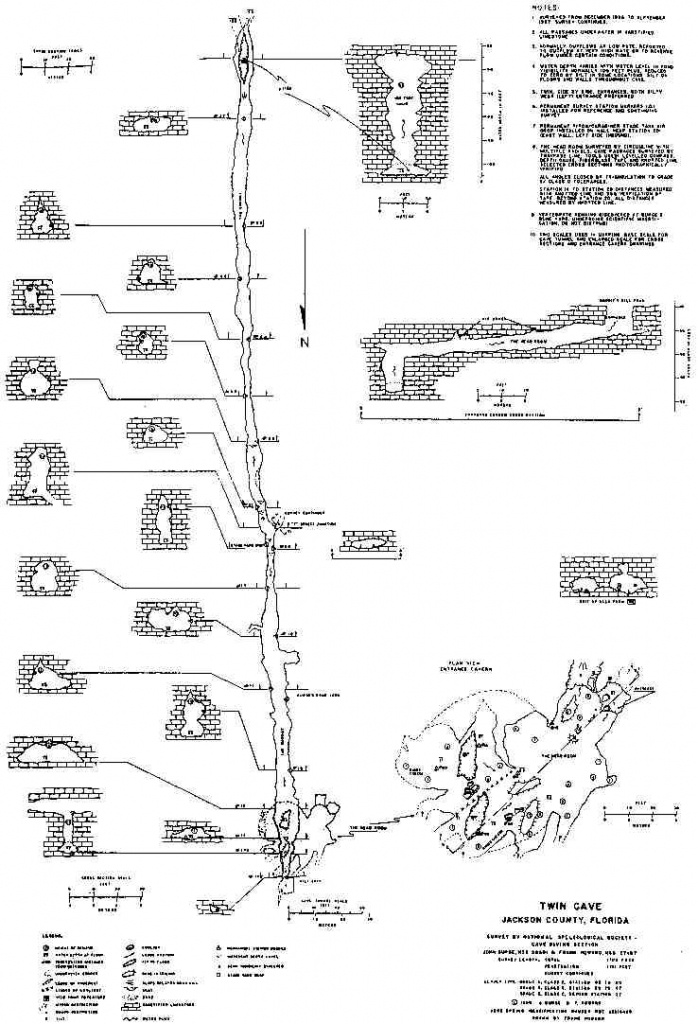 Caveatlas » Cave Diving » United States » Twin Caves - Florida Cave Diving Map