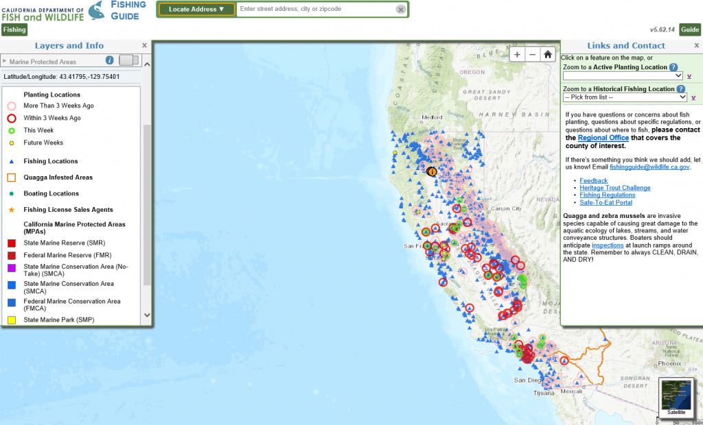 Cdfw Fishing Guide - Showcases - California Natural Resources Agency - California Fishing Map
