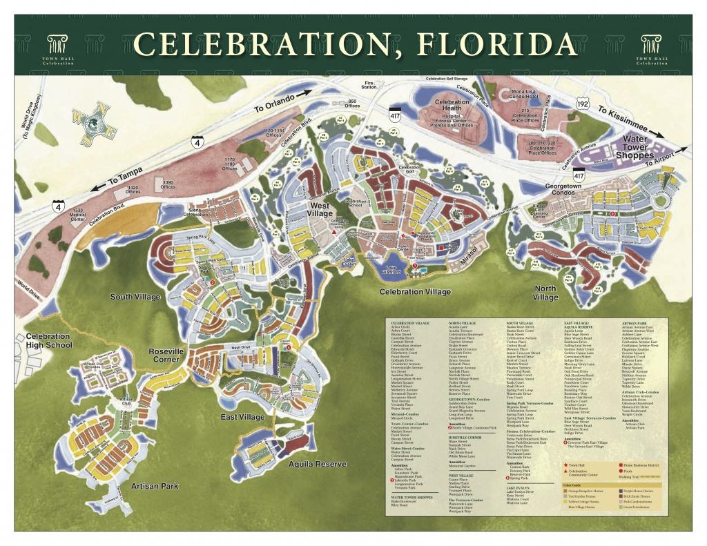 Celebration, Fl Real Estate - Celebration Florida Map
