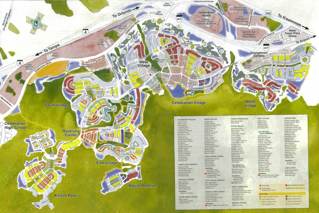 Celebration Florida Map | Celebration Florida In 2019 | Celebration - Map Of Hotels In Kissimmee Florida