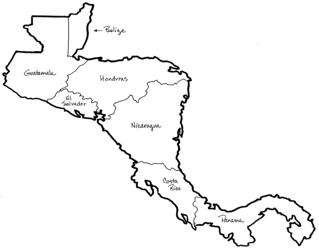 Central America Map Coloring | Social Studies | Central America Map - Printable Blank Map Of Central America