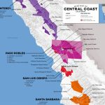Central Coast Wine: The Varieties And Regions | Wine Folly   California Ava Map