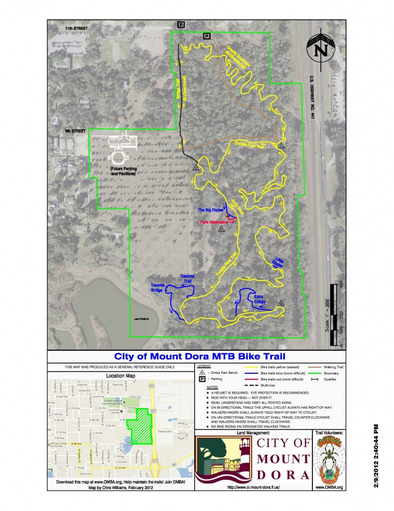 Central Florida Mountain Bike Trails: Mount Dora Bike Trail - Central Florida Bike Trails Map