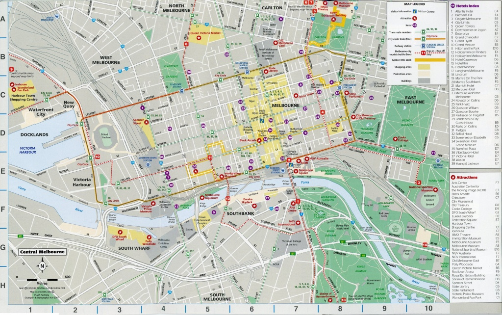 Central Melbourne Cbd Printable Map – I See American People (And Places) - Printable Map Of Melbourne