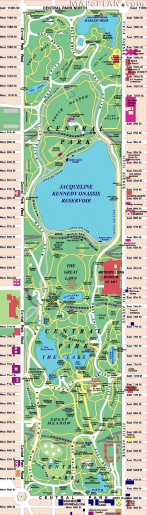 Central Park   I Love New York   Central Park Nyc, Central Park Map - Printable Map Of Central Park Nyc