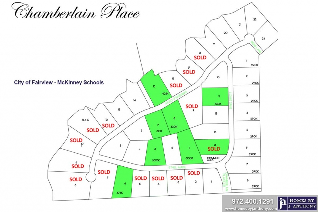 Chamberlain Place Community In Fairview, Tx – Homesj. Anthony - Fairview Texas Map