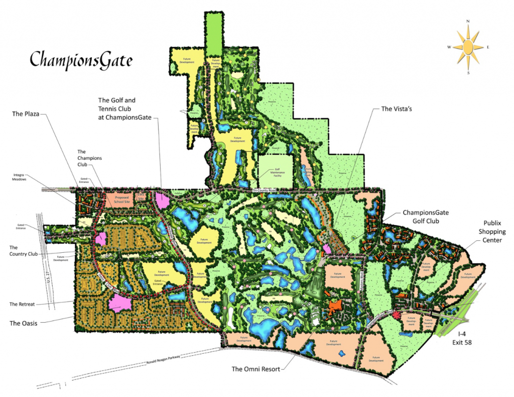Championsgate Resort For Sale - Residential, Golf, And Vacation Home - Champions Gate Florida Map