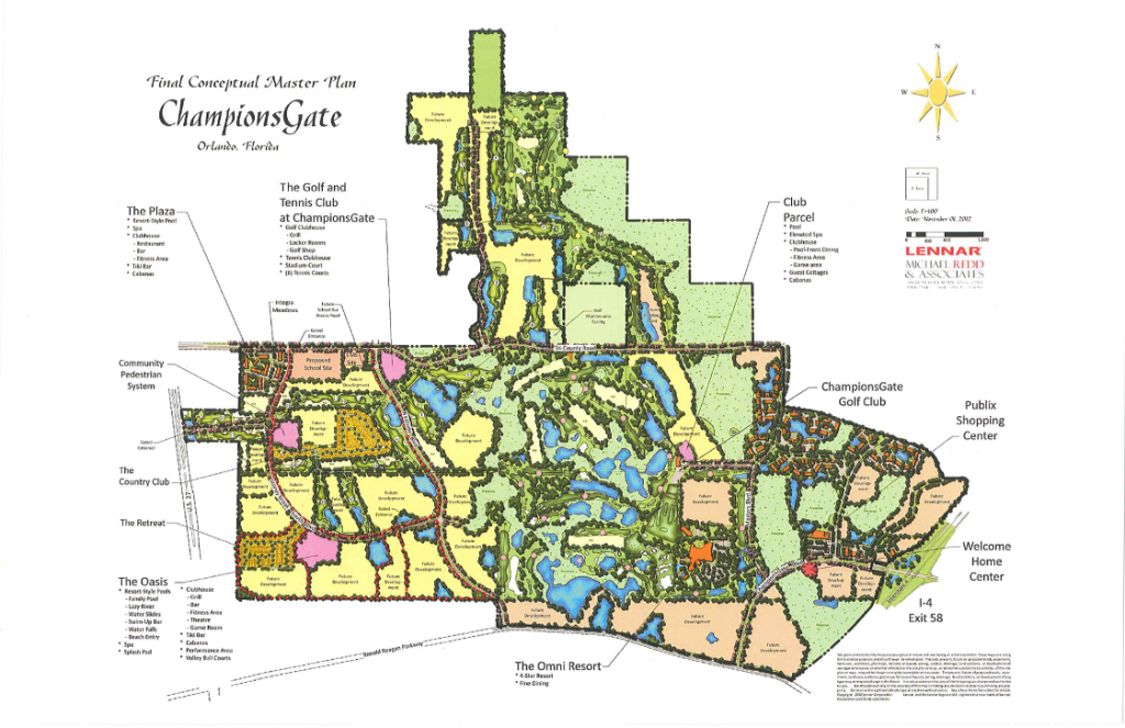 Championsgate Vacation Homes For Sale, Championsgate Retreat Hoa Fees - Champions Gate Florida Map