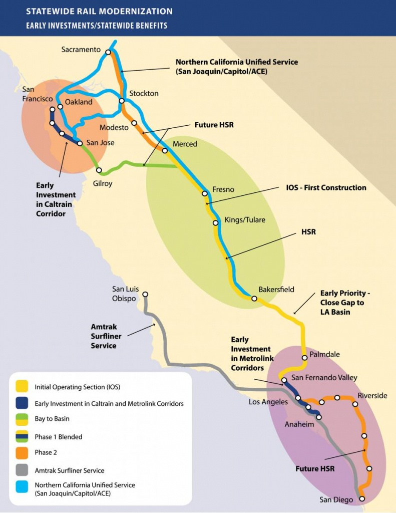 Chapter's Stance On California's High-Speed Rail Project | Sierra - High Speed Rail California Map