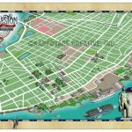 Charleston Historic District Illustrated Map   Map Gallery   Cartotalk   Printable Map Of Charleston Sc Historic District