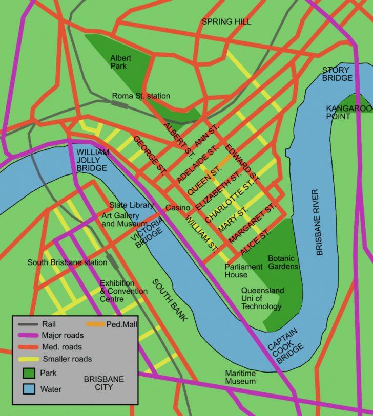 Brisbane City Map Printable