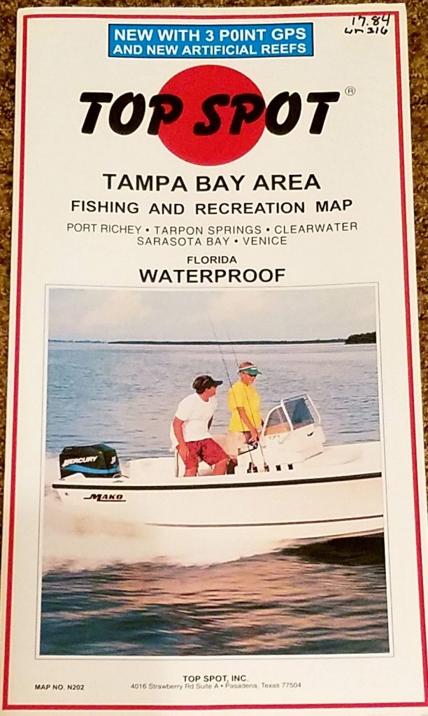 Charts And Maps 179987: Top Spot Map N202 Tampa Bay Area Fishing And - Top Spot Fishing Maps Texas