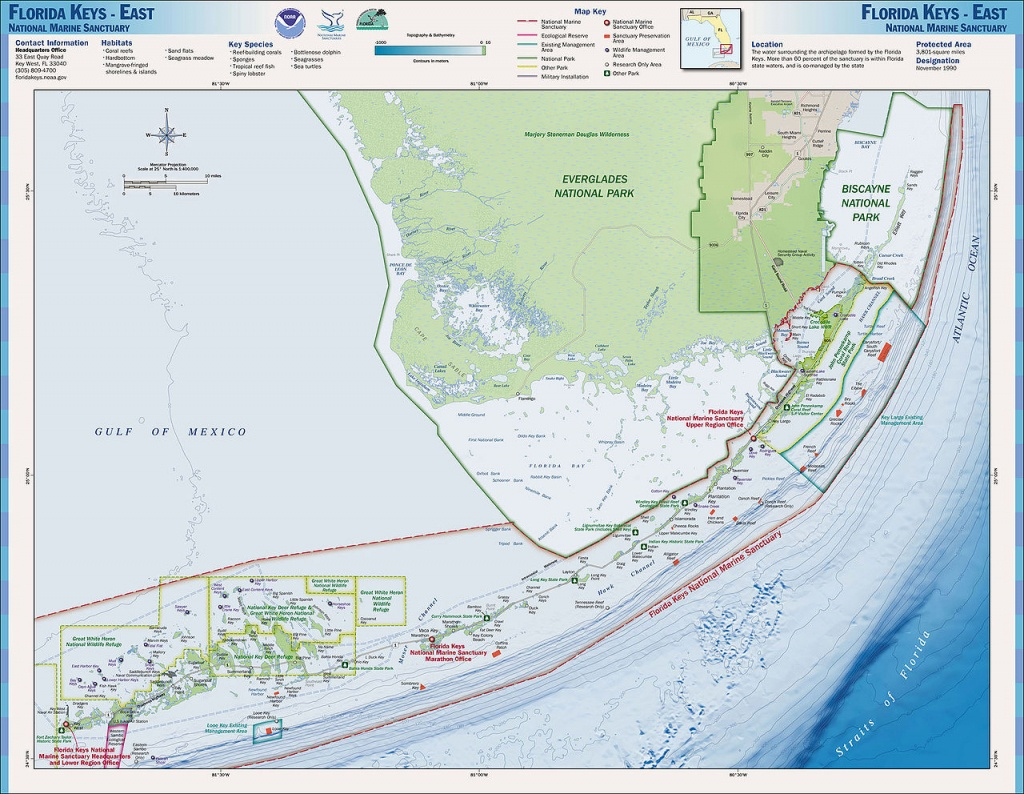Charts And Maps Florida Keys - Florida Go Fishing - Ocean Depth Map Florida