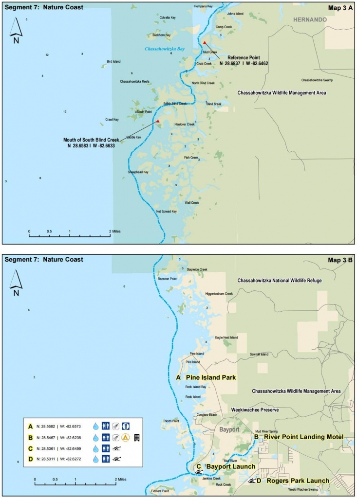 Chassahowitzka River To Bayport - Florida Circumnavigational - Florida Paddling Trail Maps