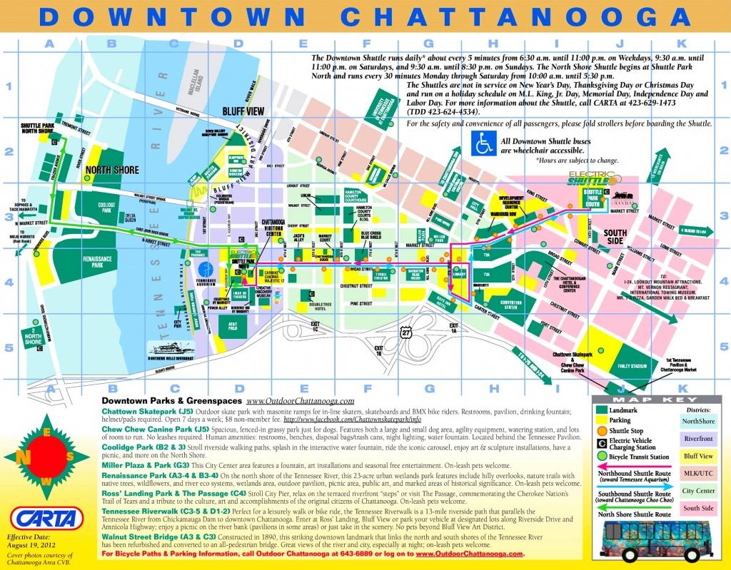 Chattanooga Tourist Map - Printable Map Of Chattanooga