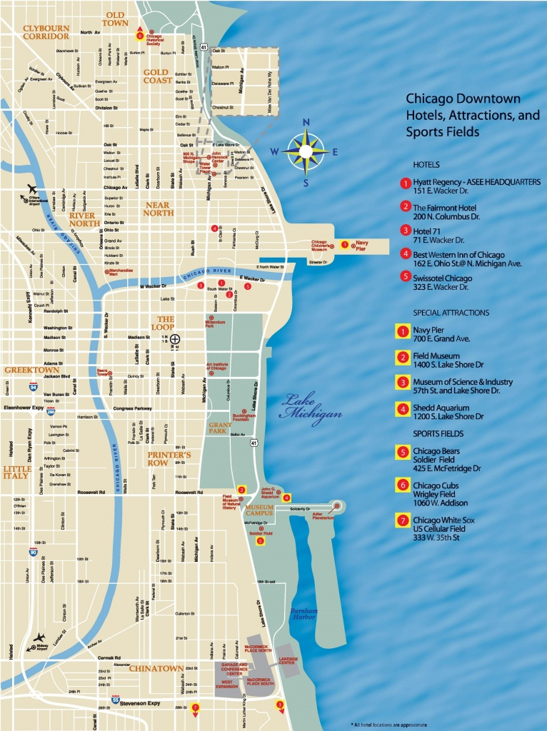 Chicago Downtown Map - Chicago Tourist Map Printable