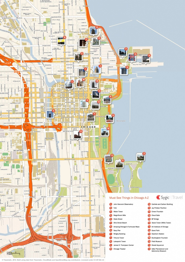 Chicago Printable Tourist Map | Sygic Travel - Printable Map Of Downtown Chicago Attractions