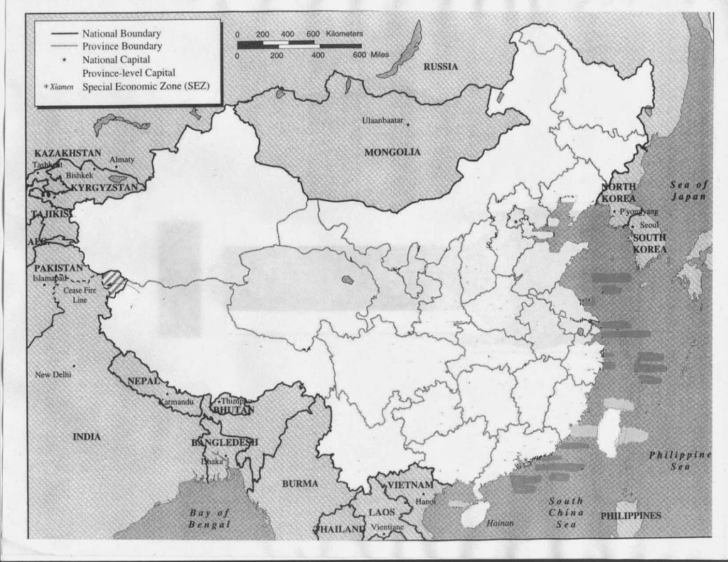 China Map Printable - Free Printable Maps - Free Printable Map Of China