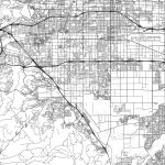 Chino, California   Area Map   Light | Hebstreits Sketches   Chino California Map