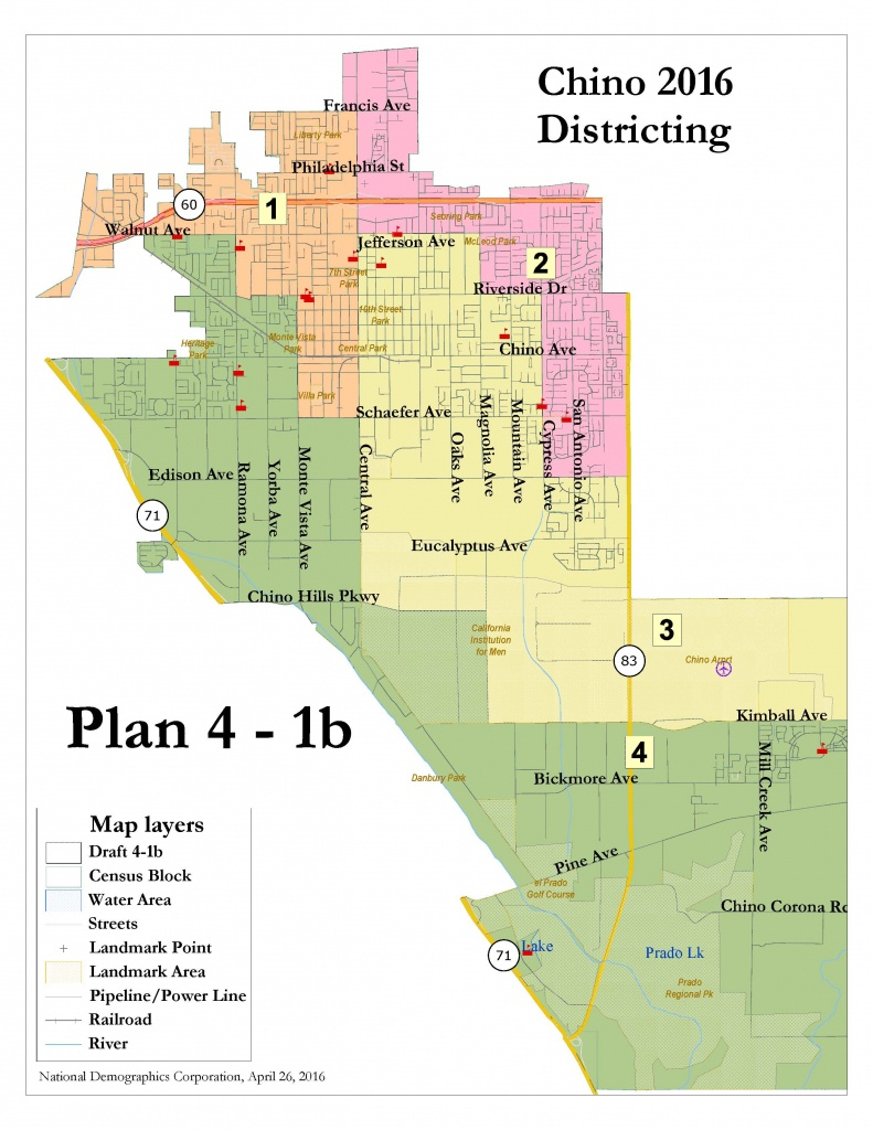 Chino Divides City Into Voting Districts In Initial Vote – Daily - Chino California Map