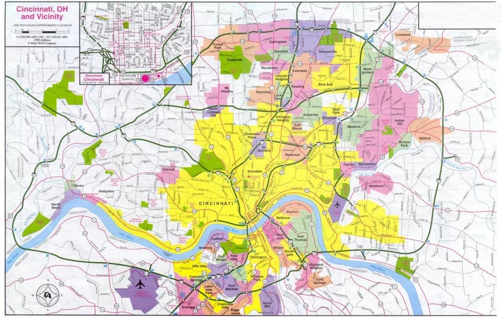 Cincinnati Map - Free Printable Maps - Printable Cincinnati Map