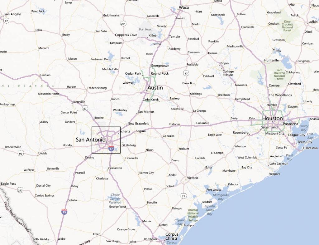 City Map Of San Antonio Texas And Travel Information | Download Free - Map Of San Antonio Texas And Surrounding Area