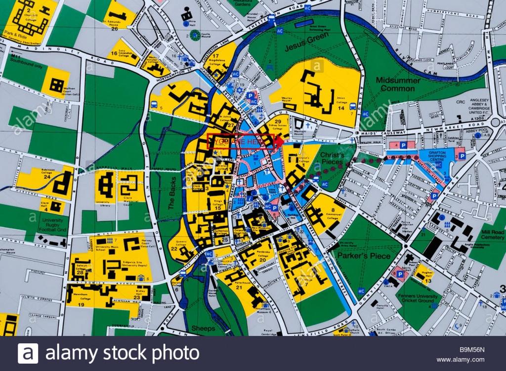 City Map Stock Photos & City Map Stock Images - Alamy - Cambridge Tourist Map Printable