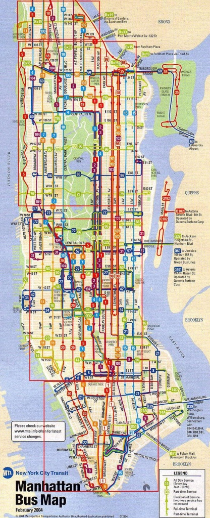 City Of New York : New York Map | Mta Bus Map | Maps In 2019 | Bus - Printable Manhattan Bus Map