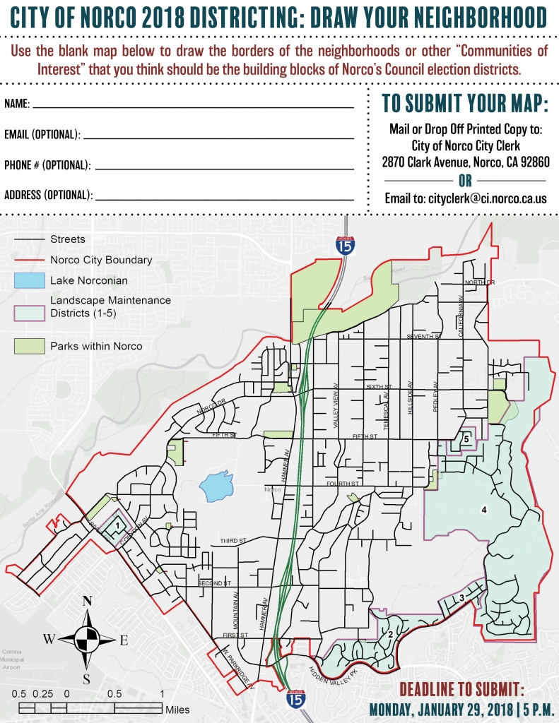 City Of Norco Website - Community Handouts - Norco California Map