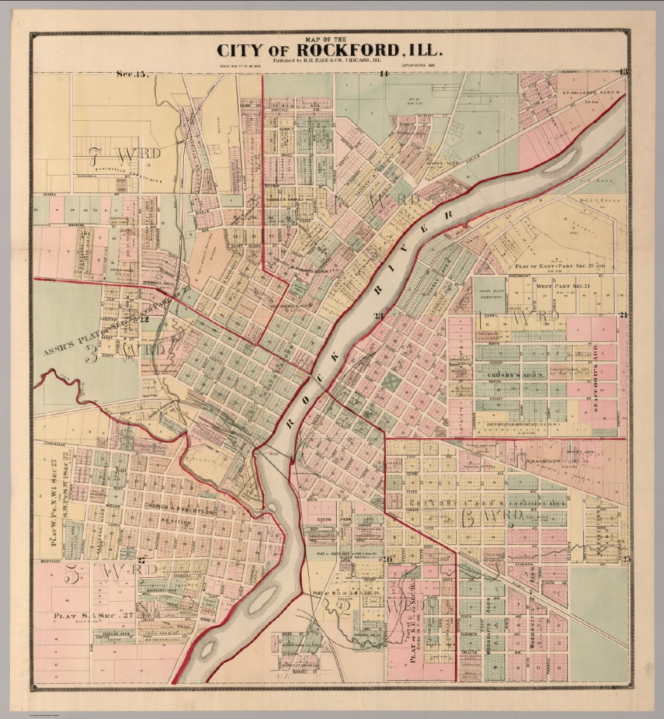 City Of Rockford, Illinois. - David Rumsey Historical Map Collection - Printable Map Of Rockford Il