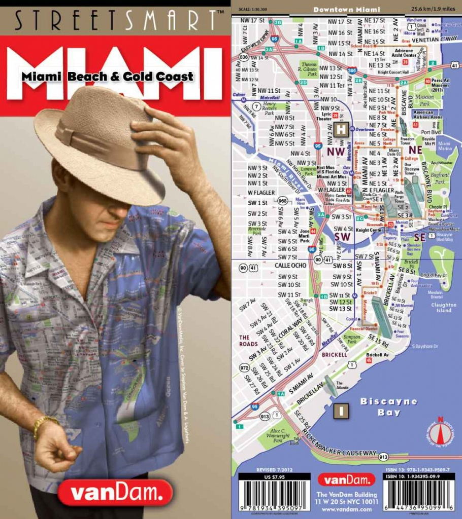City Street Map Of Miami, Florida | On Sale Today!, Ships Free On $40 - Street Map Of Miami Florida
