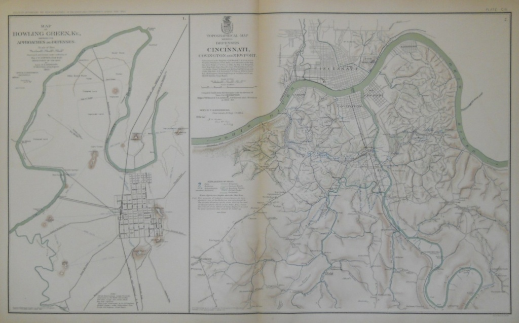Civil War Atlas, Bowling Green, Ky., Cincinnati, Oh. - Philadelphia Print - Printable Map Of Bowling Green Ky
