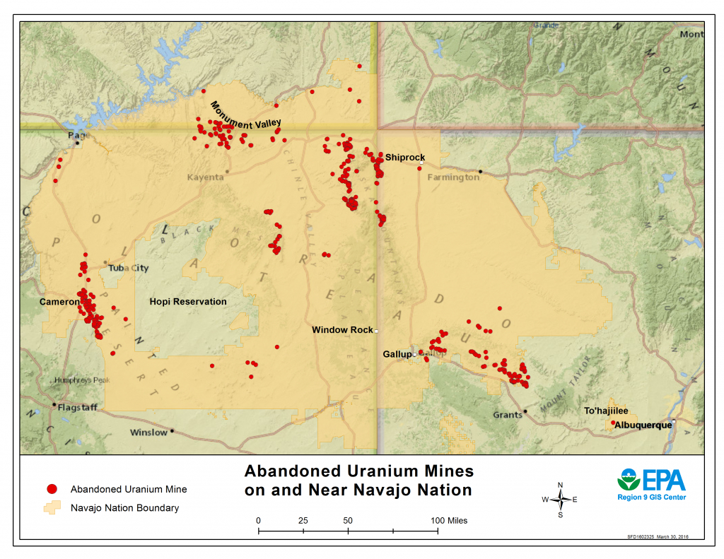 Cleaning Up Abandoned Uranium Mines | Navajo Nation: Cleaning Up - Map Of Abandoned Mines In California