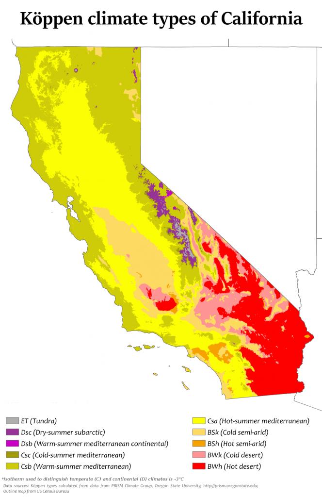 Climate Of California - Wikipedia - Food Desert Map California