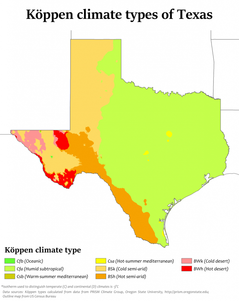 Climate Of Texas - Wikipedia - Geographic Id Map Texas