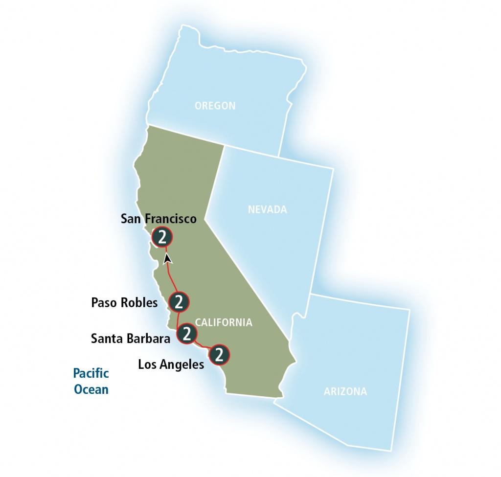 Coast Starlight   Amtrak Vacations - California Rail Pass Map