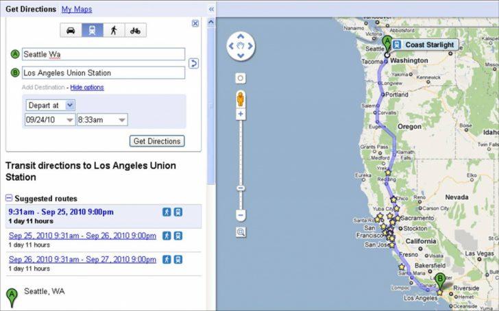 Amtrak California Coast Map