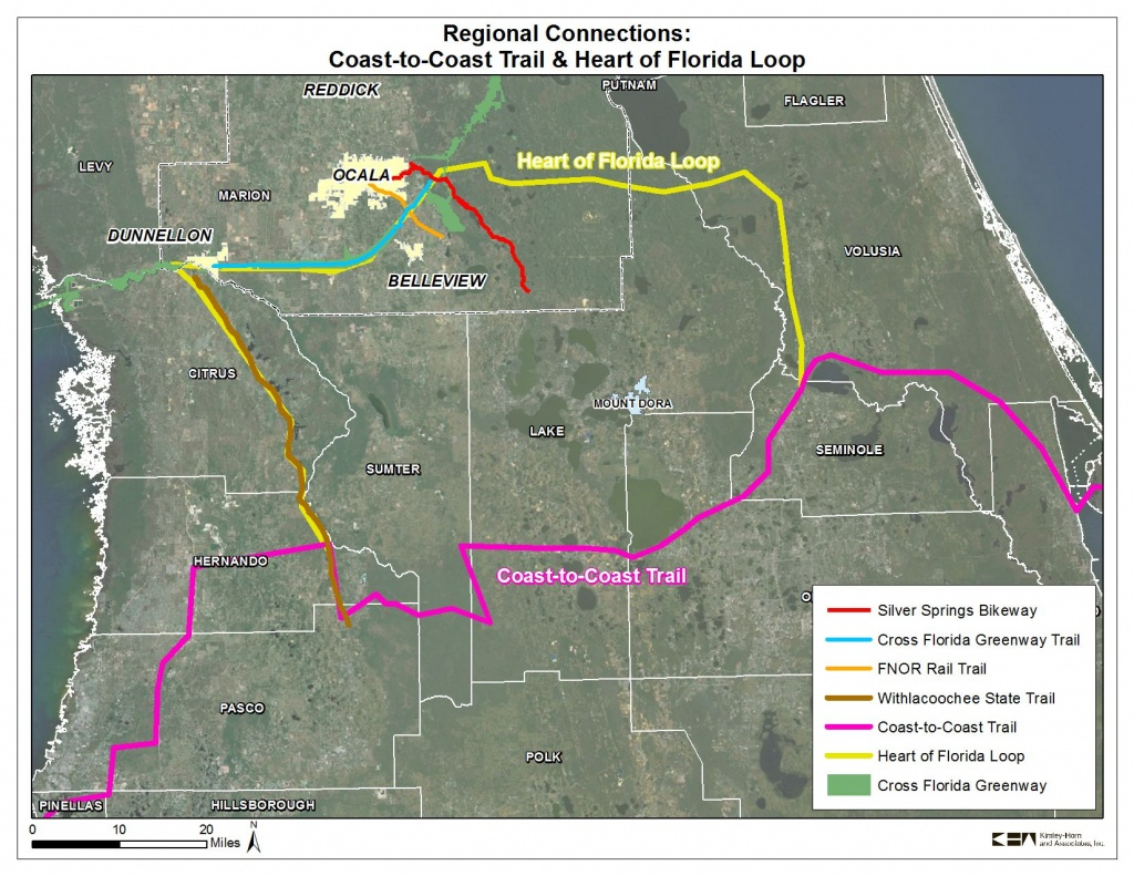Coast To Coast Trail And Heart Of Florida Loop | 2035 Bicycle And - Florida Greenways And Trails Map